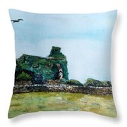 Forgotten Forlorn And Overgrown Throw Pillow