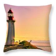 Forgotten Lighthouse Throw Pillow by Eti Reid
