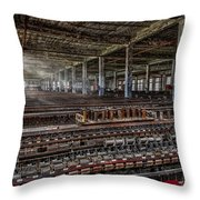 Forgotten Silk Mill Throw Pillow