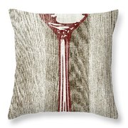 Fork And Spoon On Wood II Throw Pillow