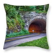 Fork Mountain Tunnel Throw Pillow