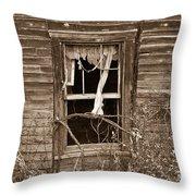 Forlorn Window Throw Pillow