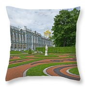 Formal Garden In Front Of The Palace Throw Pillow