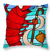 Formal Lobster Throw Pillow