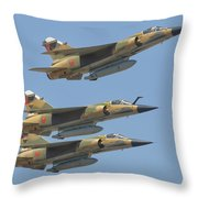 Formation Of Royal Moroccan Air Force Throw Pillow