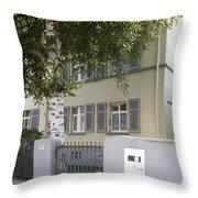 former home of Anne Frank Marbachweg Frankfurt am Main Germany Throw Pillow
