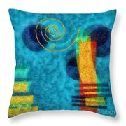 Formes 02b Throw Pillow by Variance Collections