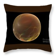 Forming Of The Sphere Throw Pillow