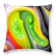 Forms And Colors Throw Pillow by Riad Belhimer