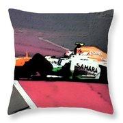 Formula 1 Grand Prix Crash Throw Pillow