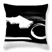 Formula 1 Racer In Action Throw Pillow