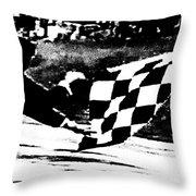 Formula 1 Vintage Checkered Flag Throw Pillow