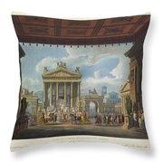 Foro Di Pompei Festivamente Adorno Throw Pillow