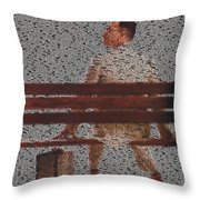 Forrest Gump Quotes Mosaic Throw Pillow