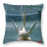 Forsyth Fountain II Detail In Savannah Georgia Throw Pillow