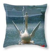 Forsyth Fountain II Detail In Savannah Georgia Throw Pillow