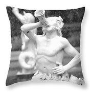 Forsyth Park Fountain - Black And White 1 2x3 Throw Pillow