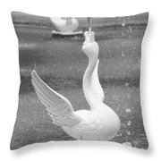 Forsyth Park Fountain - Black And White 3 2x3 Throw Pillow