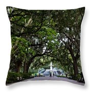 Forsyth Park Fountain Savannah Georgia  Throw Pillow
