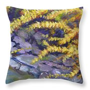 Forsythia Creek Throw Pillow