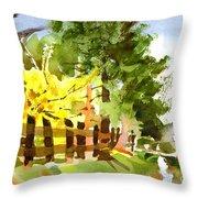 Forsythia In Bloom Throw Pillow