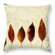 Forsythia Leaves In Fall Throw Pillow