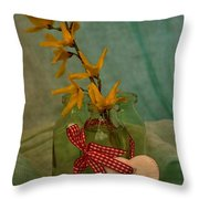 Forsythia Yellow Bells Throw Pillow