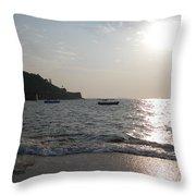 Fort Aguada Beach Throw Pillow