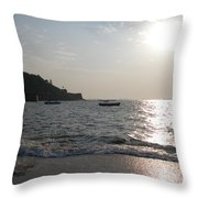 Fort Aguada Beach Throw Pillow