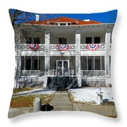 Fort Bayard Commandant's House Throw Pillow by Feva  Fotos