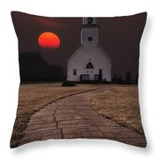 Fort Belmont Sunset Throw Pillow