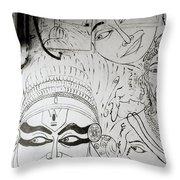 Cochin Graffiti Throw Pillow