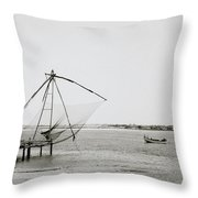 Fort Cochin Throw Pillow