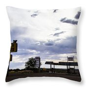 Fort Courage Trading Post Throw Pillow