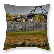 Fort Crown Point At Lake Champlain Throw Pillow