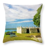 Fort Frederica Throw Pillow