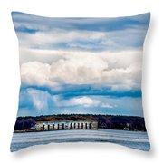 Fort Gorges Throw Pillow