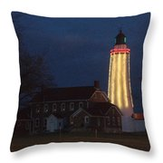 Fort Gratiot Lighthouse And Buildings Throw Pillow
