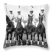 Fort Hamilton Polo Team Throw Pillow