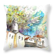Fort In Valenca Portugal 01 Throw Pillow