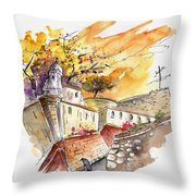 Fort In Valenca Portugal 02 Throw Pillow