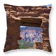 Fort Jemez Adobe Window Throw Pillow