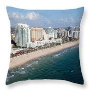 Fort Lauderdale Beach Throw Pillow