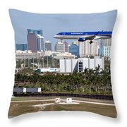 Fort Lauderdale Hollywood International Airport Throw Pillow