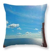 Fort Lauderdale Ocean View Throw Pillow