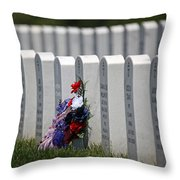 Fort Leavenworth National Cemetery Throw Pillow