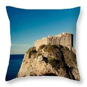 Fort Lovrijenac - St Lawrence  Throw Pillow