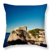 Fort Lovrijenac - St Lawrence II Throw Pillow