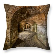 Fort Macomb Arches Vertical Throw Pillow by David Morefield