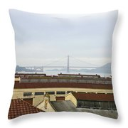 Fort Mason And Golden Gate Bridge Throw Pillow